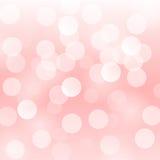 De vector abstracte achtergrond met vaag defocused lichtrose bokehlichten Royalty-vrije Stock Afbeeldingen