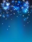 De vector Abstracte Achtergrond van de de Winternacht Stock Fotografie