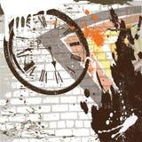 De vector abstracte achtergrond van de grungemuur Stock Foto