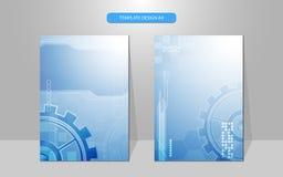 De vector abstracte achtergrond van het de dekkingsontwerp van het technologiesysteem werkende Royalty-vrije Stock Fotografie