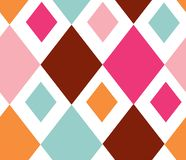 De vector abstracte achtergrond van het diamant naadloze patroon vector illustratie