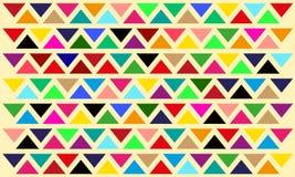 De vector abstracte achtergrond van het driehoeksmozaïek Stock Fotografie
