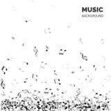 De vector Abstracte Achtergrond van de Muziek Muziek achtergrondtekst met dalende nota's vector illustratie