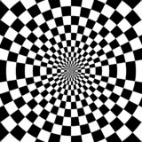 De vector abstracte achtergrond van optische illusie zwart-witte verdraaide strepen vector illustratie