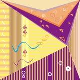 De vector abstracte affiche van het de kaarten Moderne abstracte ontwerp van Memphis van conceptontwerp In geometrische elementen Stock Foto's