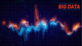 De vector abstracte financiële grote visualisatie van de gegevensgrafiek stock illustratie