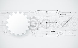 De vector abstracte futuristische techniek van het toestelwiel op kringsraad Royalty-vrije Stock Afbeeldingen