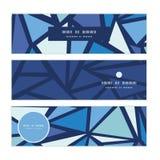 De vector abstracte horizontale banners van ijschrystals Stock Foto's
