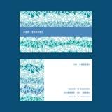 De vector abstracte horizontale textuur van ijschrystals Stock Afbeelding