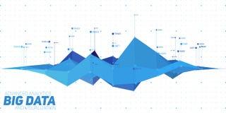 De vector abstracte kleurrijke financiële grote visualisatie van de gegevensgrafiek Futuristisch infographics esthetisch ontwerp stock illustratie