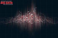 De vector abstracte kleurrijke financiële grote visualisatie van de gegevensgrafiek Futuristisch infographics esthetisch ontwerp Royalty-vrije Stock Foto's