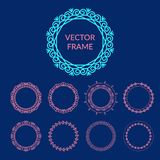 De vector abstracte malplaatjes van het kaderontwerp Stock Afbeeldingen