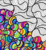 De vector abstracte naadloze getrokken ornamenten van het fantasiepatroon hand royalty-vrije illustratie