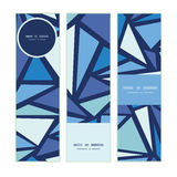De vector abstracte verticale geplaatste banners van ijschrystals Royalty-vrije Stock Foto's
