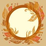 De vector achtergrond met frame met de Herfst doorbladert Stock Afbeelding