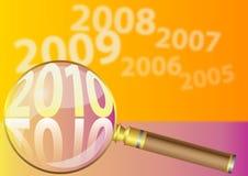 De vector achtergrond van 2010 Stock Foto's