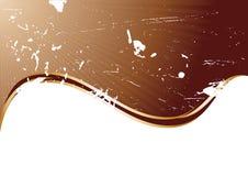 De vector achtergrond van de grungechocolade Stock Afbeeldingen