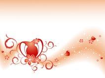 De vector achtergrond van de Valentijnskaart Royalty-vrije Stock Afbeeldingen