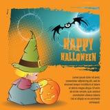 De vector achtergrond van Halloween Royalty-vrije Stock Afbeelding