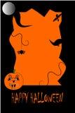 De vector achtergrond van Halloween Stock Afbeelding