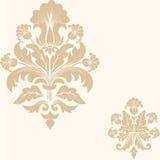 De vector achtergrond van het damast naadloze patroon Royalty-vrije Stock Foto's