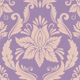 De vector achtergrond van het damast naadloze patroon Royalty-vrije Stock Afbeelding