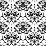 De vector achtergrond van het damast naadloze patroon Royalty-vrije Stock Fotografie