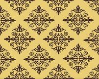 De vector achtergrond van het damast naadloze patroon De elegante luxetextuur voor behang, de achtergronden en de pagina vullen Royalty-vrije Stock Foto's