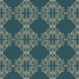 De vector achtergrond van het damast naadloze patroon De elegante luxetextuur voor behang, de achtergronden en de pagina vullen Stock Afbeeldingen