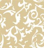 De vector achtergrond van het damast naadloze patroon Elegant Stock Afbeeldingen