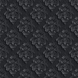 De vector achtergrond van het damast naadloze patroon Elegant Stock Fotografie