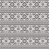 De vector achtergrond van het damast naadloze patroon Elegant Stock Afbeelding