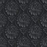 De vector achtergrond van het damast naadloze patroon Elegant Royalty-vrije Stock Foto's