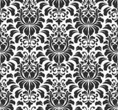 De vector achtergrond van het damast naadloze patroon Elegant Stock Foto's