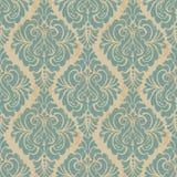 De vector achtergrond van het damast naadloze patroon Elegant Stock Foto