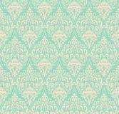 De vector achtergrond van het damast naadloze patroon Het klassieke ornament van het luxe ouderwetse damast, koninklijke victoria Stock Foto's