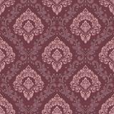 De vector achtergrond van het damast naadloze patroon Het klassieke ornament van het luxe ouderwetse damast, koninklijke victoria vector illustratie