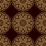 De vector achtergrond van het damast naadloze patroon Klassieke wijnoogst patte Stock Foto