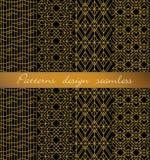 De vector achtergrond van het damast naadloze patroon patroonmonsters met inbegrip van Stock Fotografie