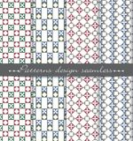 De vector achtergrond van het damast naadloze patroon patroonmonsters met inbegrip van Royalty-vrije Stock Afbeeldingen