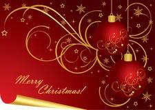De vector achtergrond van Kerstmis Royalty-vrije Stock Afbeelding