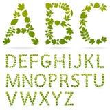 De vector alfabetbrieven worden gemaakt die van doorbladert Royalty-vrije Stock Foto