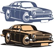 De vector auto van de beeldverhaal retro spier Royalty-vrije Stock Foto's