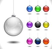 De vector bal van Kerstmis Stock Afbeeldingen
