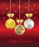De vector Ballen van Kerstmis Royalty-vrije Stock Foto's