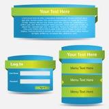 De vector Banner van het Web Stock Foto's