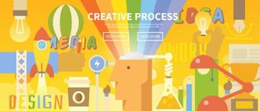 De vector Banner van het Web Creatief proces Royalty-vrije Stock Foto