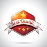 De vector Beste Illustratie van de Etiketten van de Kwaliteit met glanzend gestileerd ontwerp Royalty-vrije Stock Foto
