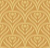 De vector bladeren sieren naadloos patroon Royalty-vrije Stock Afbeelding
