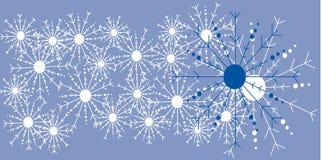 De vector Blauwe Achtergrond van de Vlok van de Sneeuw Stock Afbeelding